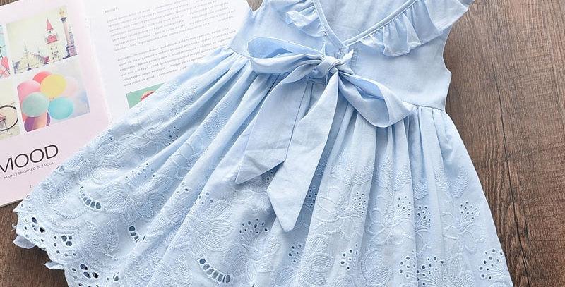 Keelorn Cotton Children Princess Dresses 2-7T
