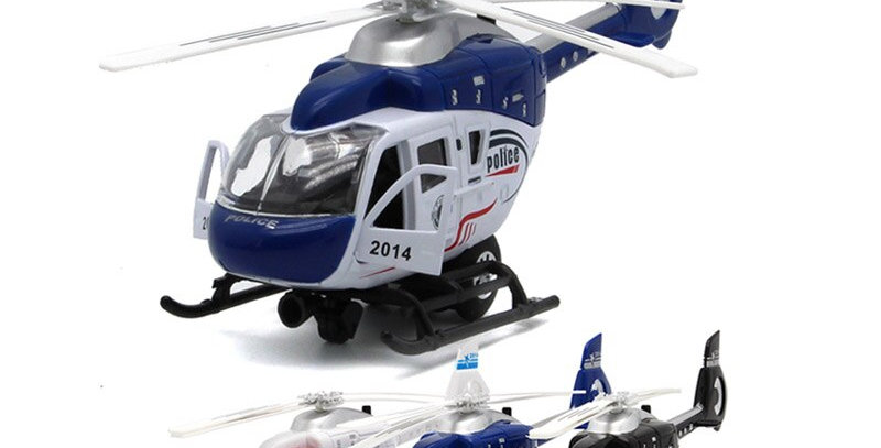 21CM Length Diecast Police Helicopter