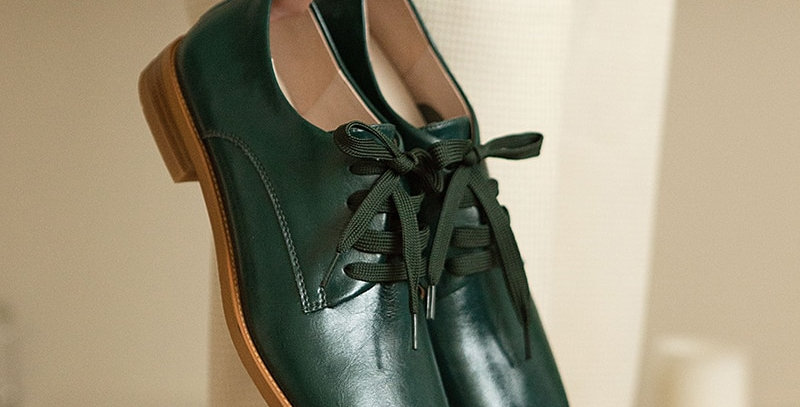 Genuine Leather Flat Heels Shoes
