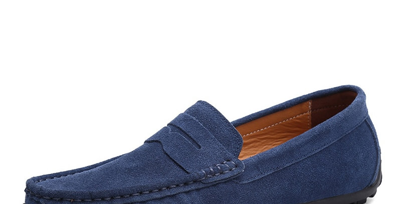 DEKABR Moccasins Men Loafers High Quality Genuine Leather Shoes