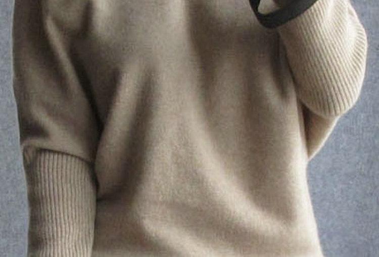100% Wool Batwing Sleeve Sweaters  Plus Size