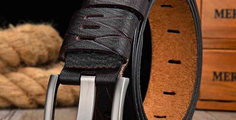 Leather Belt Men Strap Male Genuine Leather