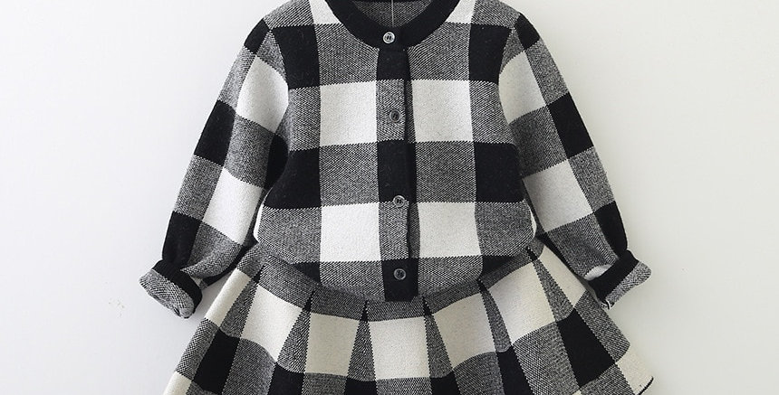 Knitted Shirt Sweater and Skirt 2 Pcs 3-7T