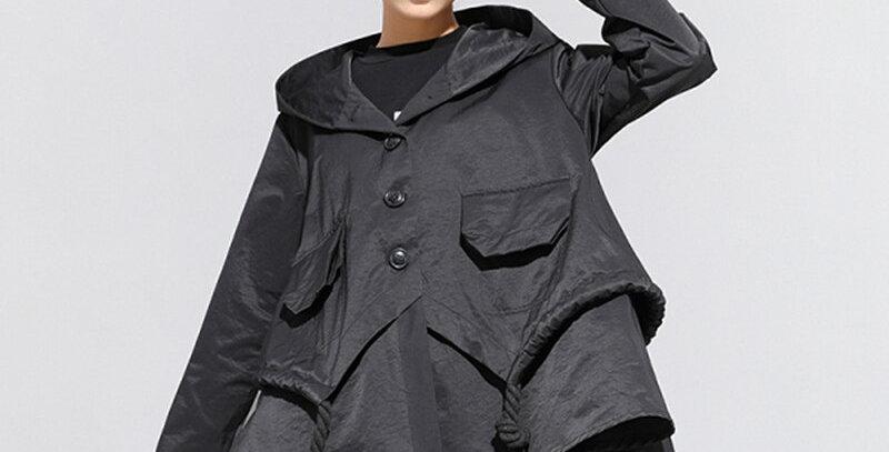 Asymmetrical Plus Size Jacket