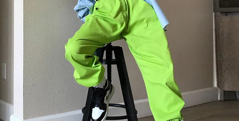 Fluorescent Green Hip Hop Costume Women