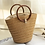 Thumbnail: Beach Straw Bag Drawstring Tote Handbags