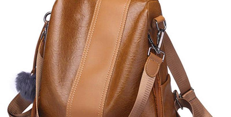 Women Backpack Vintage PU Leather Shoulder Bag