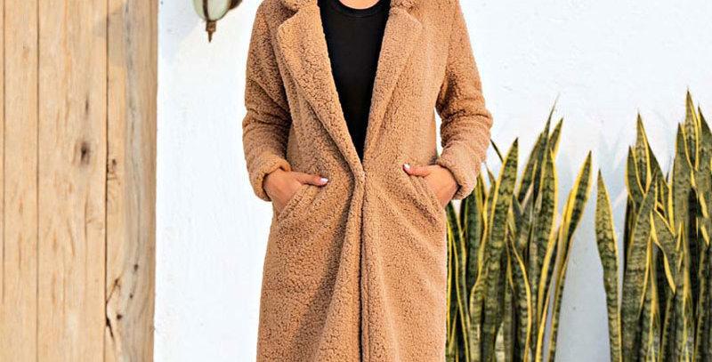 Female Plush Coat Plus Size