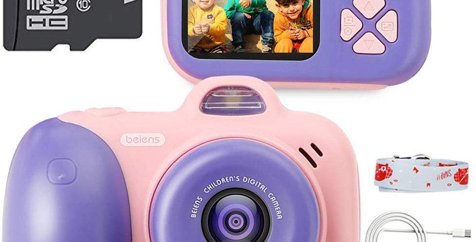 Beiens Camera Digital 2400W Pixel Toys Camera 2inch IPS Screen 16G SD Card