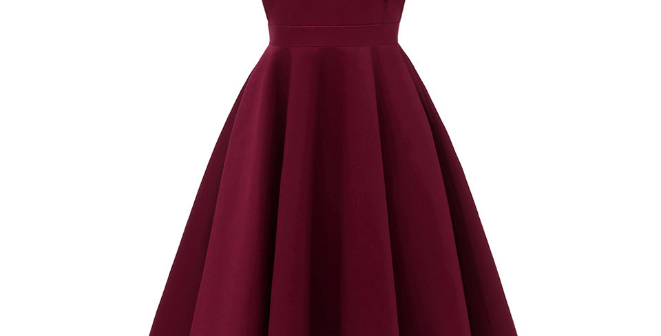 Burgundy Cocktail Dress Cheap Off the Shoulder Short Sleeves Graduation Party