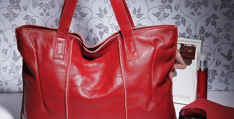 100% Genuine Leather Bag Large Women Leather Handbags