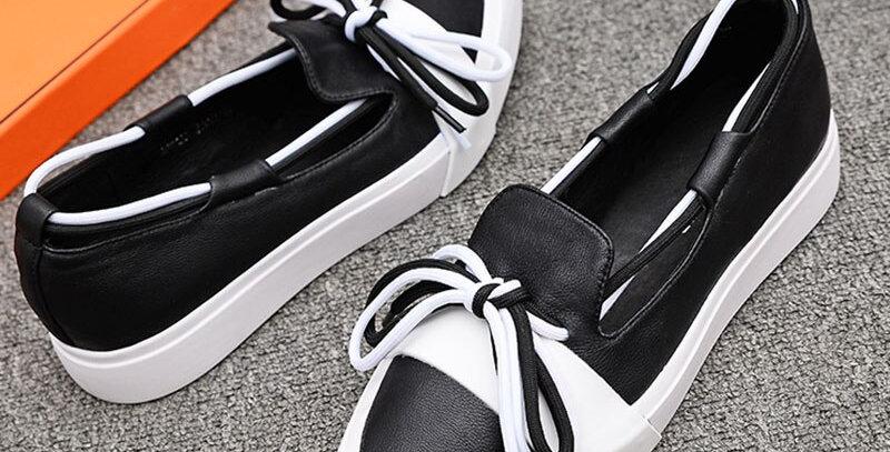 Casual Pu Leather Single Flat Shoes
