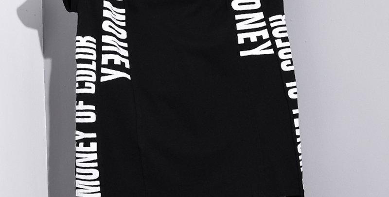 Printed Mesh Big Size Cotton T-Shirt