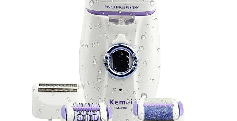 Kemei 3 in 1 Electric Epilator for Women