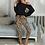 Thumbnail: Leopard Women's Home Suit Soft Two Pieces