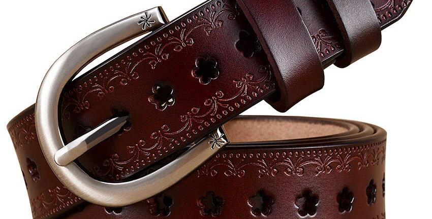 Genuine Leather Belts Women Width 2.8 Cm