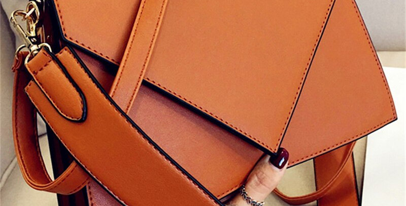 Fashion Casual Square Bag Simple Leather Women's