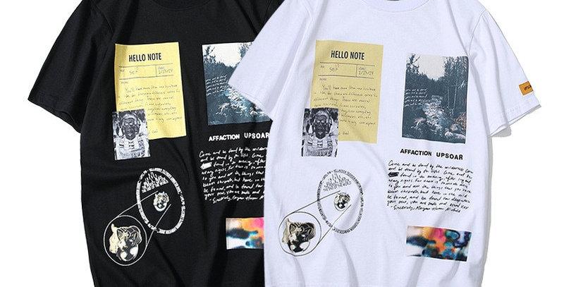 Men T-Shirts Printing Vintage Hip Hop Style