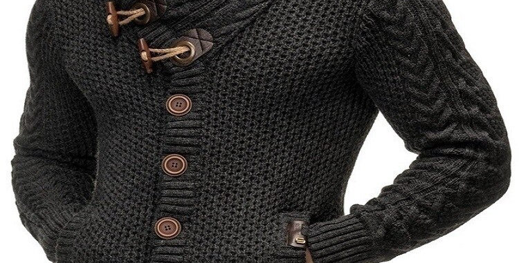 Autumn Winter Turtleneck Sweater Men Casual Solid Color Plus Size