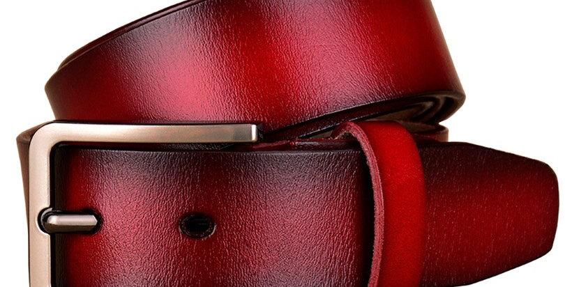 Genuine Leather Belts for Women Pin Buckle Belt Female Width 3.3 Cm