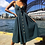 Thumbnail: Dress Backless Polka Dots Print Cotton