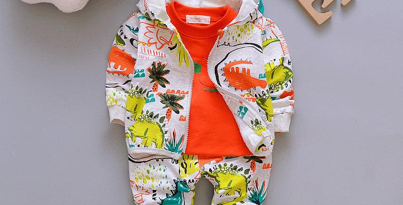 Coat+ T Shirt +Pants Set 9M-4T