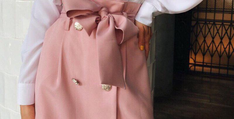 High Waist Skirt Elegant Pockets