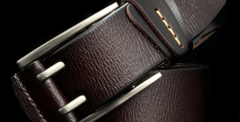 Fashion British Style Double Pin Buckle  Genuine Leather Belt for Men
