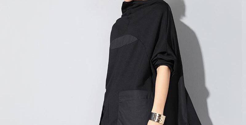 Patchwork Pocket T Shirt Women Plus Size