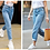 Thumbnail: 100% Cotton Vintage High Waist Mom Jeans Women`s Blue Black