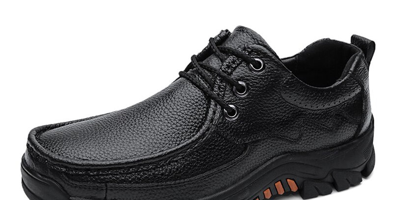 Genuine Leather Men Shoes Casual Breathable Men's Oxfords