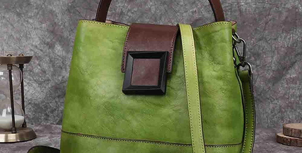 Retro Genuine Leather Bag Handwork