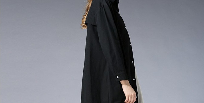 Cotton Loose Shirt Dress Women
