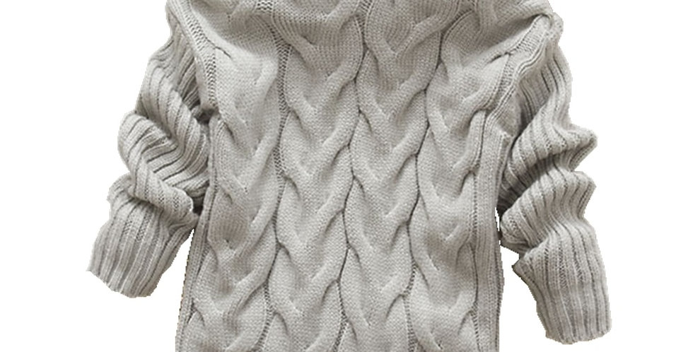 Knitted Turtleneck Pullover 2T-8