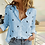 Thumbnail: Women's Birds Print Shirts Blouses Plus Size