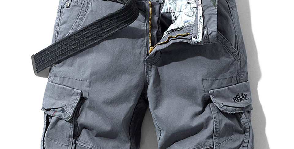 Cotton Shorts Men Solid Classic Pockets Legwear Shorts 28-38