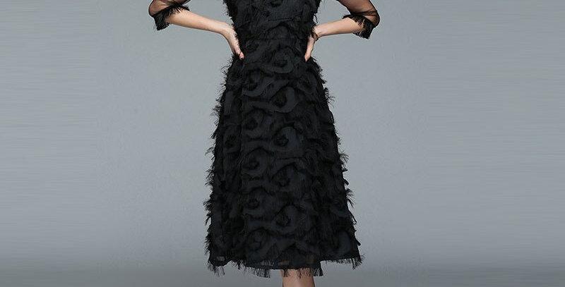 Elegant Black Female Dress