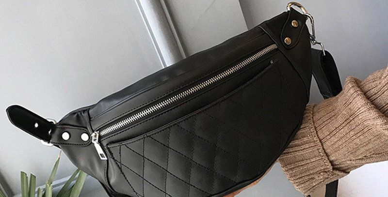 Classic Trendy Pu Leather Waist Packs Solid