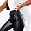 Thumbnail: Black High Waist Pencil Faux Leather Pants