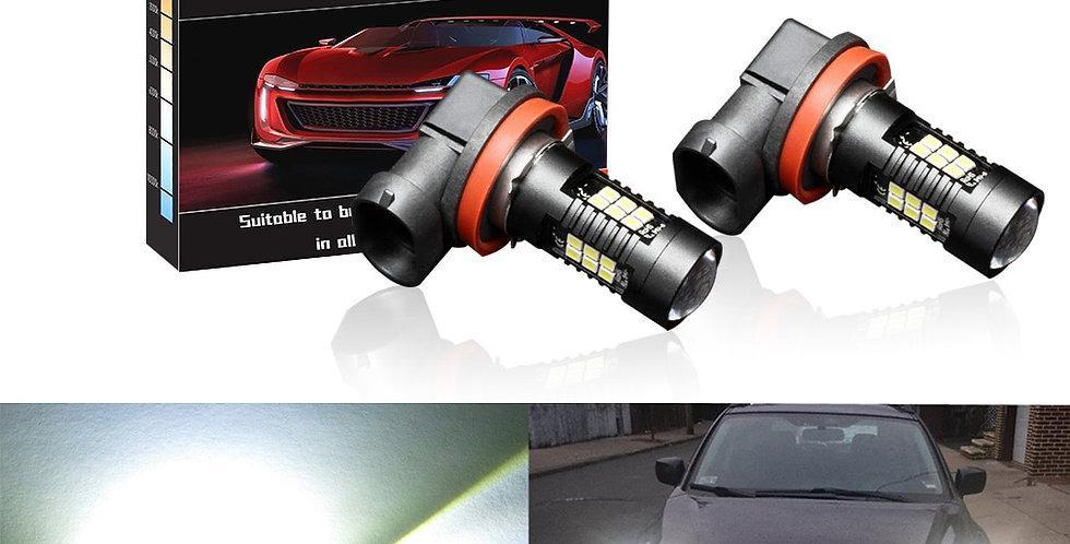 2pcs 1200Lm H11 H8 LED Car Lights LED Bulbs 9005 HB3 9006 HB4 White Daytime