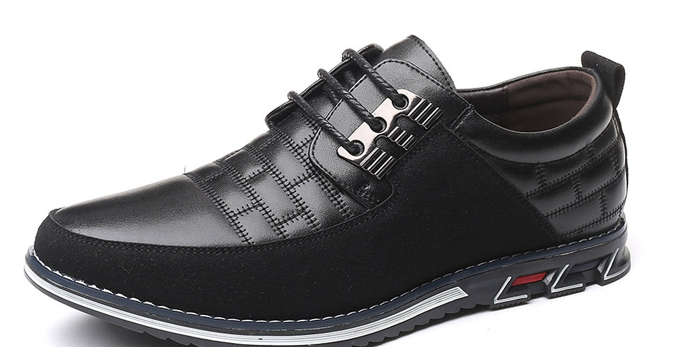 Men Shoes Casual Men Driving Leather Shoes Classic Loafers Oxford Lace Up