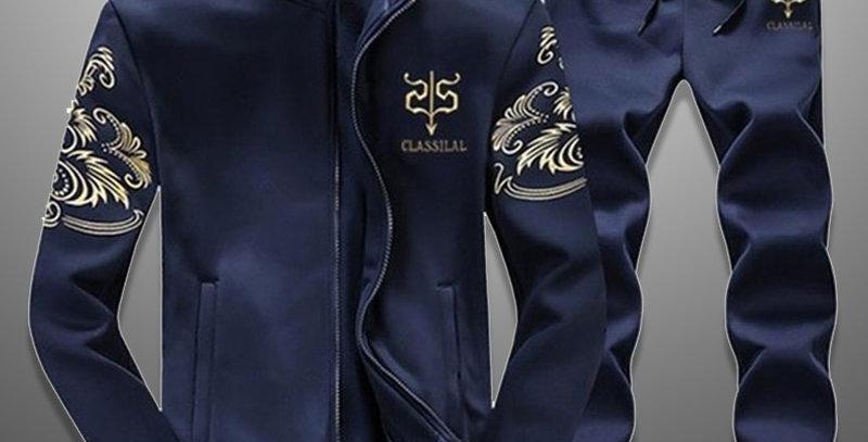 Men's Set Sportswear 2 Piece Set Sporting Suit Jacket+Pant
