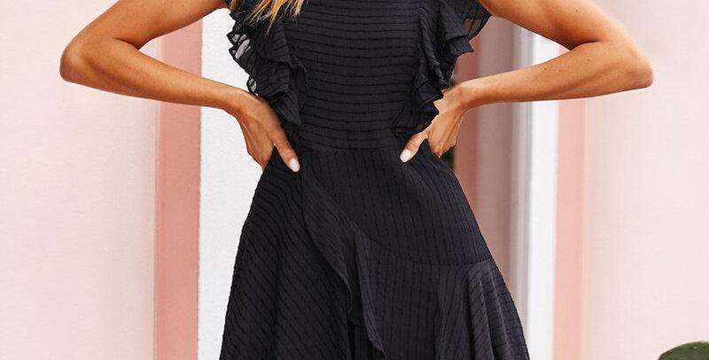 Women Elegant Ruffle Mini Dress