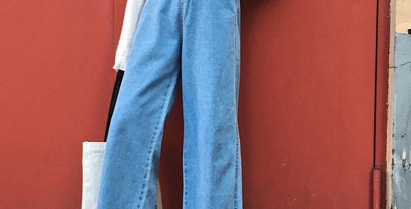 Jeans Women Solid Zipper Casual Pockets Simple