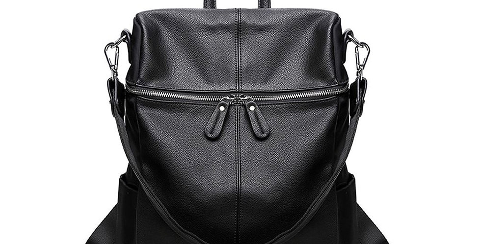 PU Leather Backpack  for Teenage Girls Large Capacity