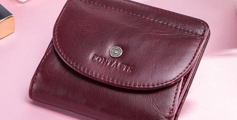 Genuine Leather Women Wallet Lady Perse