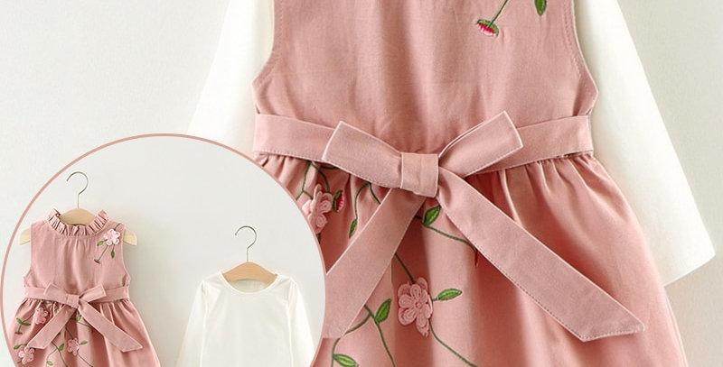 Long-Sleeve Princess Dress 6-24M