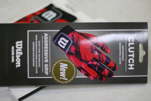 2 Gloves, WILSON Glove CLUTCH, Red and Black