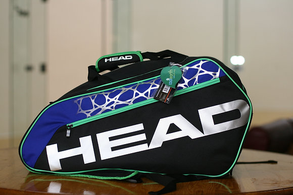 HEAD Racquetball Bag TOUR Black Blue Silver