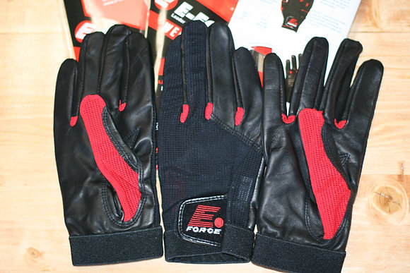 2 E-Force Weapon Racquetball Gloves, Red / Black Color